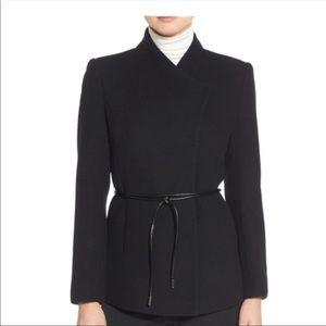 Halogen Belted Short Wool Blend Coat
